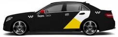 Комплект наклеек Яндекс Такси на темный автомобиль